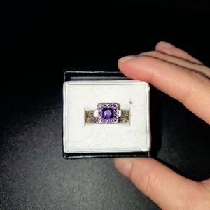 Bridal Set w/simulated purple gemstones